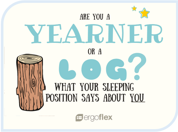 Yearner and log sleeping position